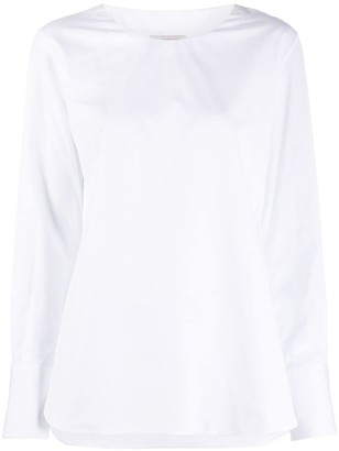Alberto Biani Long-Sleeve Cotton Top