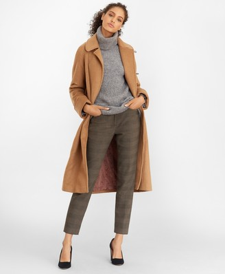 Brooks Brothers Camel Hair Wrap Coat