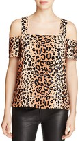 Cooper & Ella Ava Leopard Print Cold Shoulder Top - 100% Bloomingdale's Exclusive