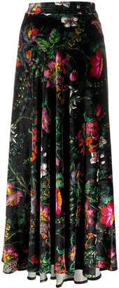Paco Rabanne floral maxi skirt
