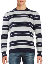 Lacoste Crewneck Striped Sweater