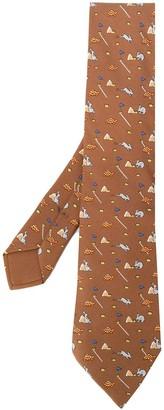 Hermes 2000s Pre-Owned Printed Tie