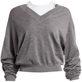 Alexander Wang Oversized Bi-Layer V-Neck Sweater