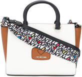 Love Moschino large tote bag with printed shoulder strap