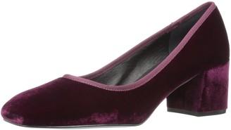 Kenneth Cole New York Women's Eryn Dress Pump Low Heel Square Toe Velvet