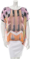 Clover Canyon Printed Scoop Neck Top