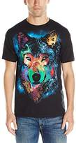 Liquid Blue Men's Cosmic Wolf T-Shirt