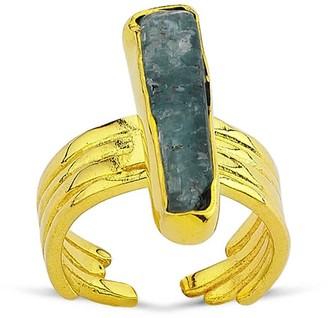 Yuka Studio Kyanite Crystal Chunky Gold Ring