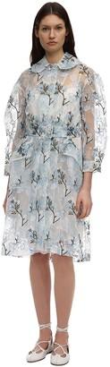 Simone Rocha Embroidered Organza Duster Coat