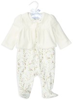 Ralph Lauren Girls' Cardigan, Bodysuit & Overalls Set - Baby