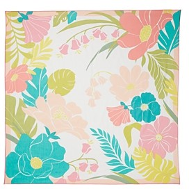 Kate Spade Tropical Floral Cotton & Silk Square Scarf