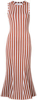 Victoria Beckham striped fitted dress - women - Cotton/Spandex/Elastane/Polyimide - 2