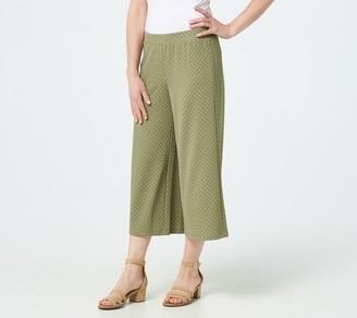 Isaac Mizrahi Live! Petite Pebble Knit Polka Dot Culotte Pants