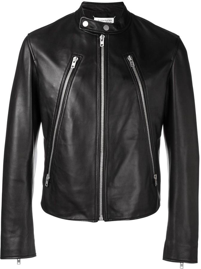 84bed596e decorative zip biker jacket