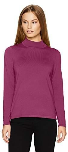 Pendleton Women's Petite Size Washable Silk Mockneck Pullover Sweater