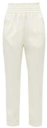 Giambattista Valli High-rise Satin Trousers - Womens - Ivory