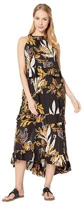 Free People Anita Printed Maxi (Black) Women's Dress
