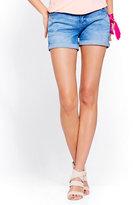 New York & Co. Soho Jeans - Boyfriend Short - Vibrant Blue Wash
