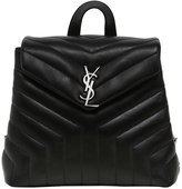 Saint Laurent Small Loulou Monogram Leather Backpack