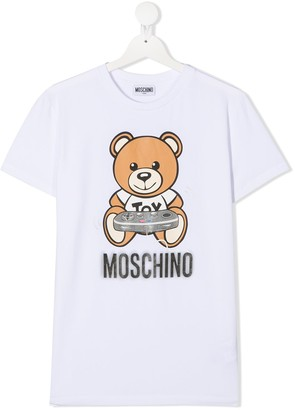MOSCHINO BAMBINO short sleeve teddy print T-shirt