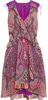 Etro Ruffled Floral-print Silk Dress