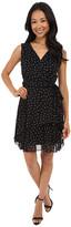Tahari by Arthur S. Levine Petite Chiffon Pin Dot Tiered Dress