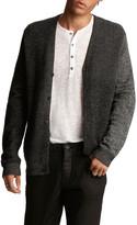 John Varvatos Men's Herringbone Easy-Fit Cardigan