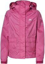Trespass Childrens Girls Twister Zip Up Waterproof Jacket