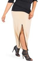 Plus Size Women's Poetic Justice Kandi Zip Slit Maxi Skirt
