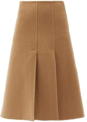 Joseph Sophie Wool-blend Midi Skirt - Camel