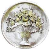 "Orlandi Statuary 26"" Flower Bouquet Plaque - White Moss"