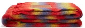 Loewe Anagram Logo-patch Mohair Blanket - Rainbow