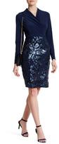 Marina Sequined Long Sleeve Dress