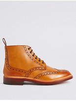 Savile Row Inspired Leather Welted Lace-up Brogue Shoes