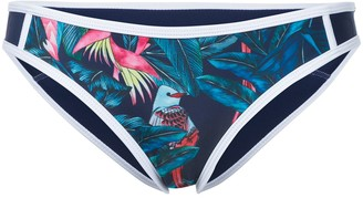 Duskii Tropical Print Bikini Bottom