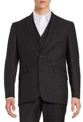 Kenneth Cole Reaction Textured Two-Button Jacket