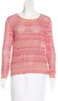 Alice + Olivia Open Knit Scoop Neck Sweater