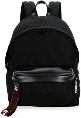 DSQUARED2 Men's Logo-Tab Nylon Backpack