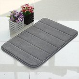 WPM'S Incredibly Soft and Absorbent Memory Foam Bath Mat, 17 By 24-inch (Grey)