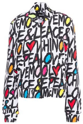 Love Moschino Printed French Cotton-terry Bomber Jacket