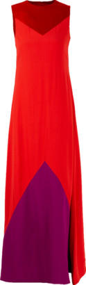 Givenchy Bateau Neck Color Block Gown