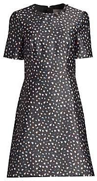 Jason Wu Collection Women's Floral Short-Sleeve Mini Dress