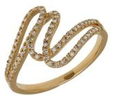 Lord & Taylor Diamond and 14K Yellow Gold Swirl Ring