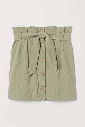 H&M Crepe paper bag skirt