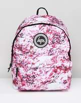 Hype Backpack In Pink Blossom Print