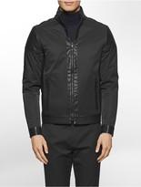 Calvin Klein Mixed Media Faux Leather Jacket