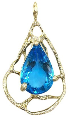 Ippolita Rock Candy Large 18K Yellow Gold, Swiss Blue Topaz & Diamond Drizzle Pendant Necklace