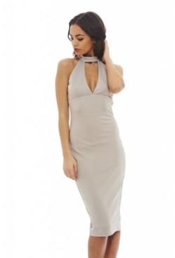 AX Paris Cut Out Neck Midi Dress