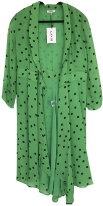 Ganni Spring Summer 2019 Green Synthetic Dresses