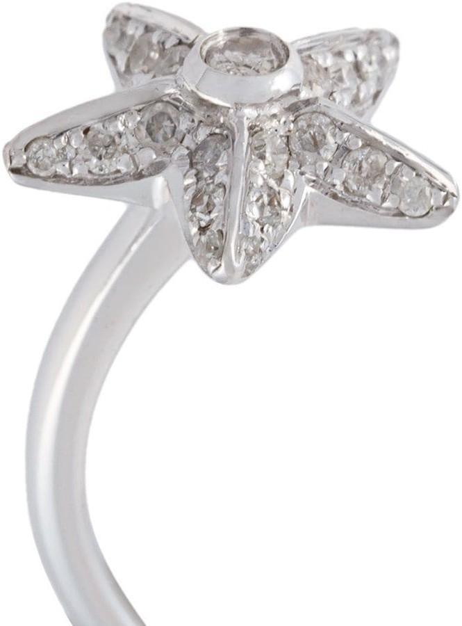 Elise Dray diamond star three finger ring